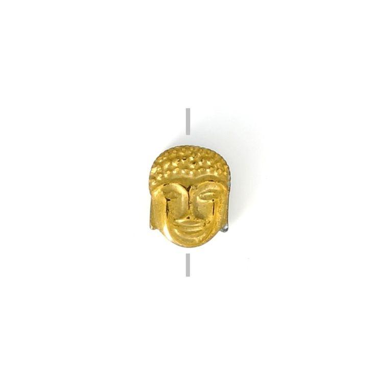 Perle en Hematite Tête de Bouddha 8.5x7x4 mm Dorado x1 - Perles & Co