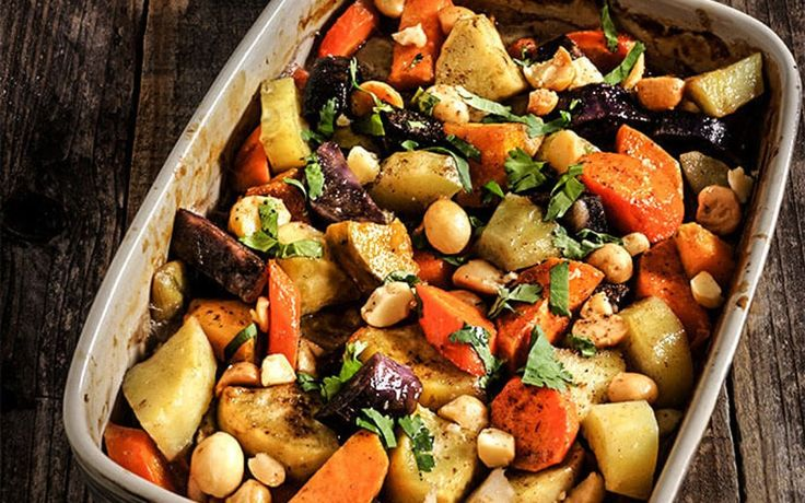 Root Vegetables Roasted in Coconut Milk With Salted, Toasted Macadamia Nuts [Vegan, Grain-Free] | One Green Planet