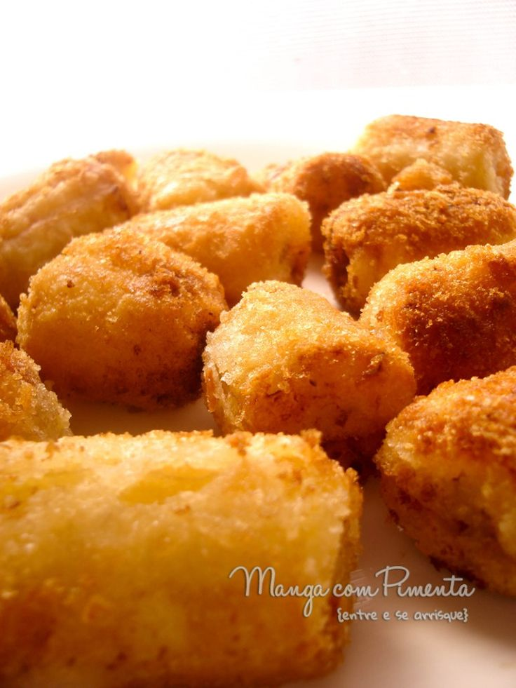 Como fazer banana empanada e frita..., para ver a receita clique na foto para ir ao Manga com Pimenta.