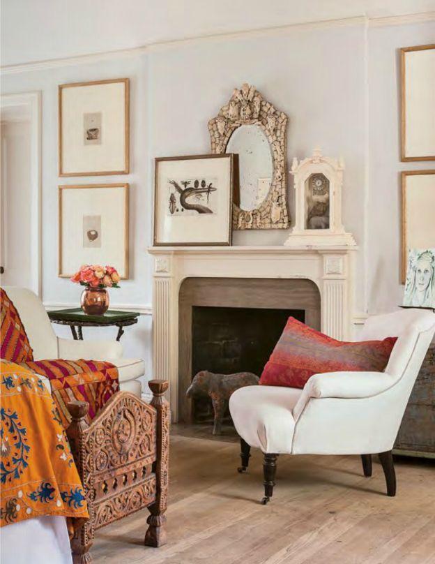 Modern Global Stye In A Living Room Featuring Neutral Art U0026 Decor With  Colorful Textiles   Bohemian Decor U0026 Design Ideas