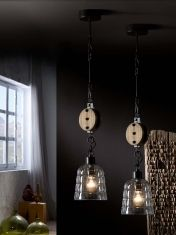 Lampade a sospensione Vintage Industriale : Modello ESTIBA piccola