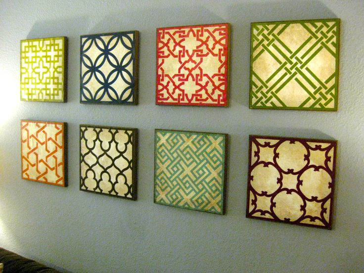 25 unique homemade wall decorations ideas on pinterest Painting geometric patterns on walls