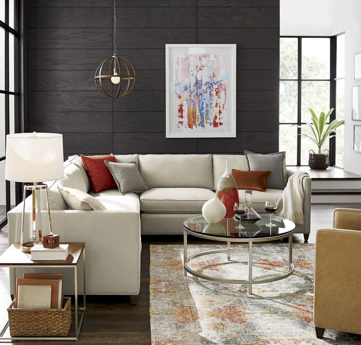 astonishing crate barrel living room