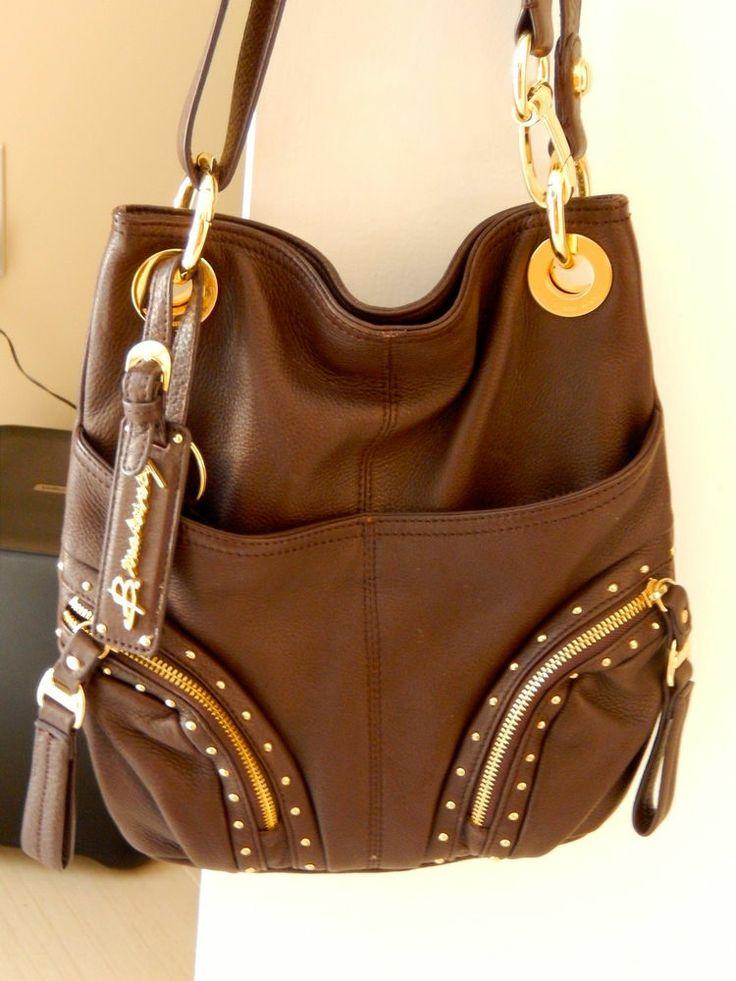 Bag At You Fashion Blog Hip E Bags White Backpack: Authentic B Makowsky Leather Handbag