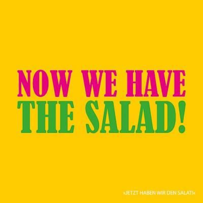 """lustige Servietten """"Jetzt haben wir den Salat"""" in Englisch - Servietten Versand Tischdeko Kerzen OnlineShop"""