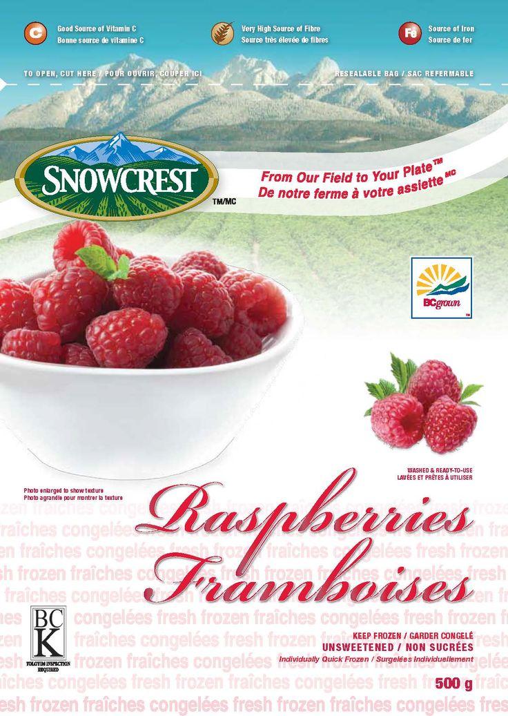 Snowcrest Package Design - Raspberries