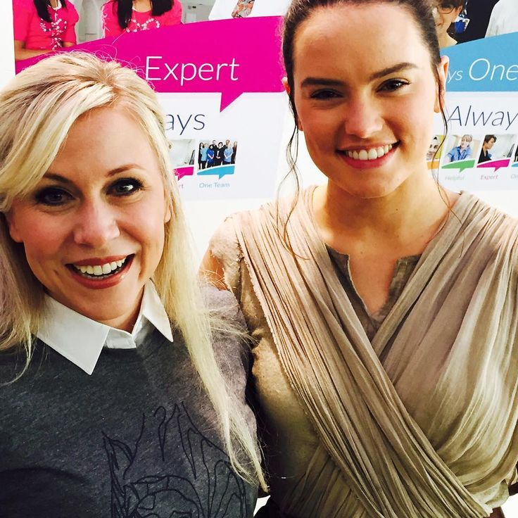 Ashley Eckstein (Ahsoka Tano) and Daisy Ridley (Rey) I love them both.