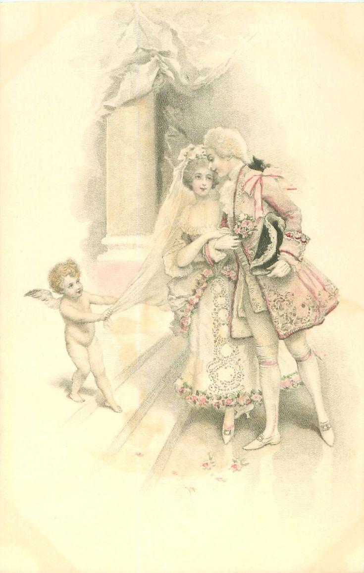Дореволюционные свадебные открытки