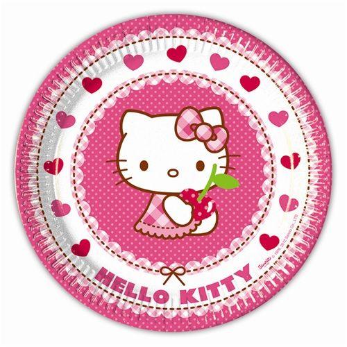 Hello Kitty Tabak Hello Kitty Tabak Ürün Özellikleri  Paketin içerisinde 8 Adet Hello Kitty Tabak bulunur. Karton Hello Kitty Tabak kaliteli ve renkli baskıdır. Karlar Ülkesi temalı tabakların boyutları 23 cm ve kartondan üretilmiştir. Pasta, Kurabiye, Kek gibi bir çok gıdanın teması ile uygundur.