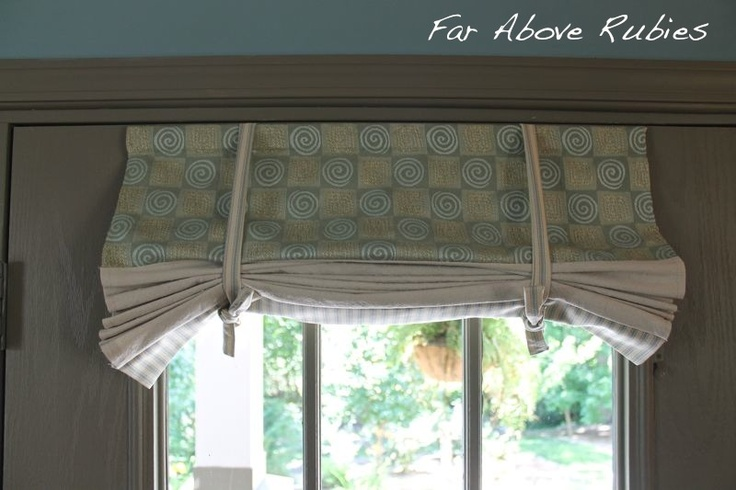 Tie Up Shades For French Doors Window Treatments