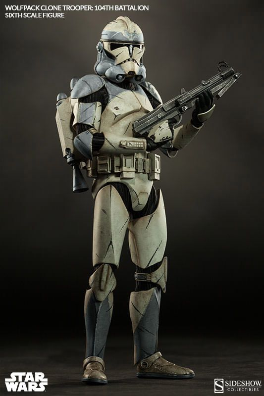 Star Wars figurine 1/6 Wolfpack Clone Trooper 104th Battalion Sideshow Collectibles