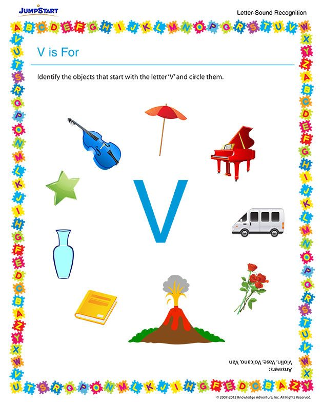 things that start with the letter v v is for free reading worksheet for preschool 25263 | 70725f9c826c0e21864dd1ab48e6d0ae