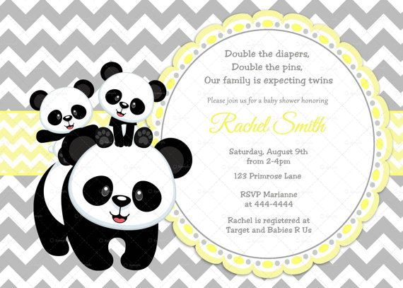 panda baby shower gender reveal baby shower twins baby shower