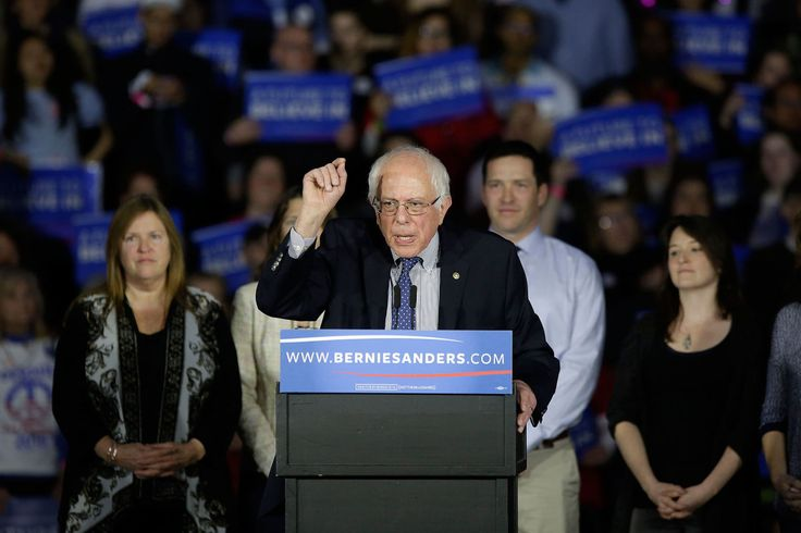 """Bernie Sanders claimed a """"virtual tie"""" with Hillary Clinton in the Iowa Democratic caucuses. New Yorker Magazine."""