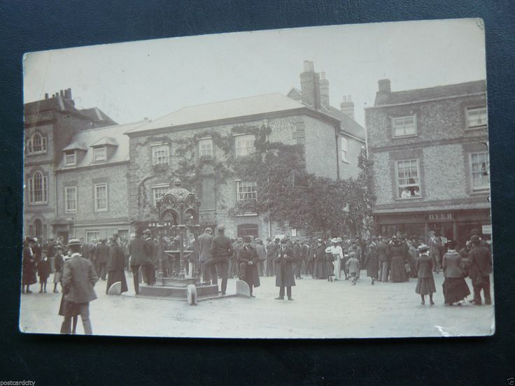 Real Photo RP Postcard showing Town centre - Wallingford - Oxfordshire | eBay