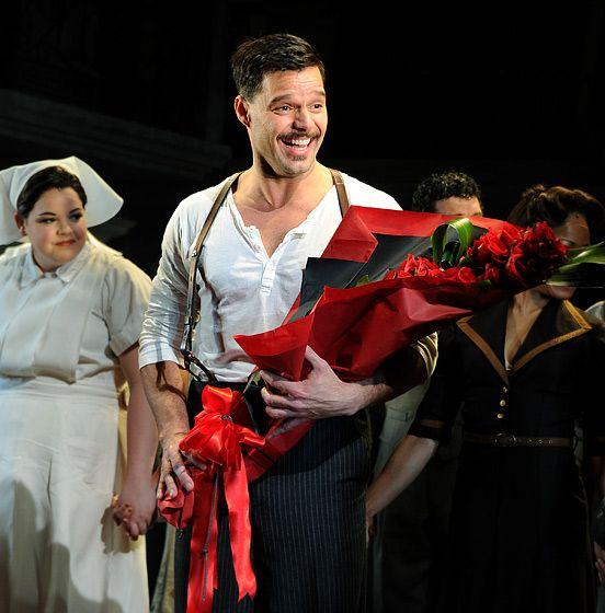 "Ricky Martin as Che in ""Evita"". I think I need to fly to New York immediately to see this. The only broadway play I truly love and one of my favorite singers from the 90s. Obviously this was arranged for me ;-)"