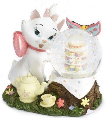 Disney Marie tea and cakes snowglobe