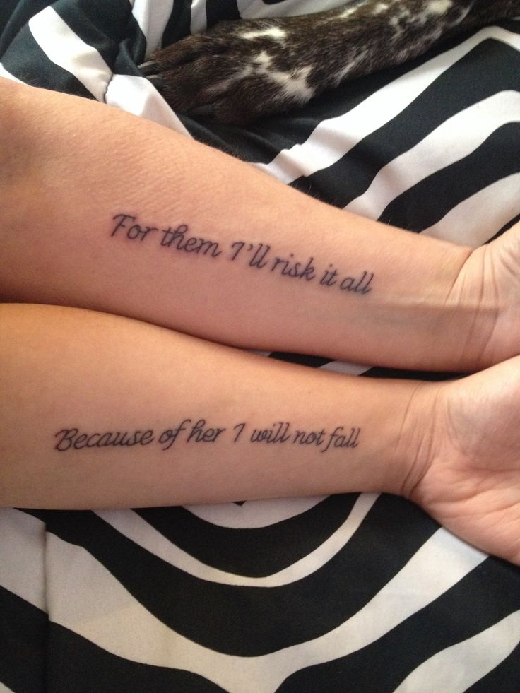 Mother daughter tattoo!