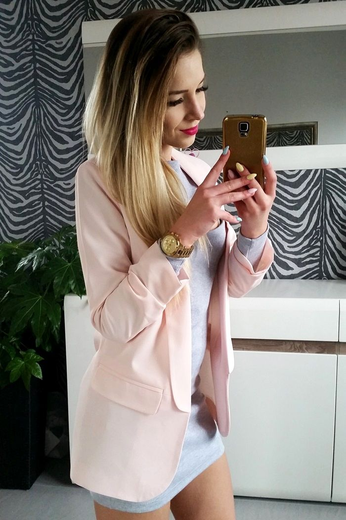 Long, pink jacket - for meeting and everyday wearing!