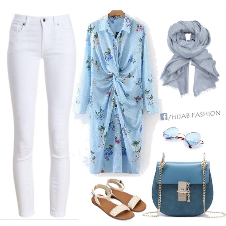 Spring Floral Longline Blouse - Outfit Idea