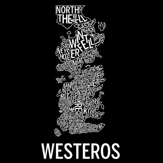 Westeros negativ svart