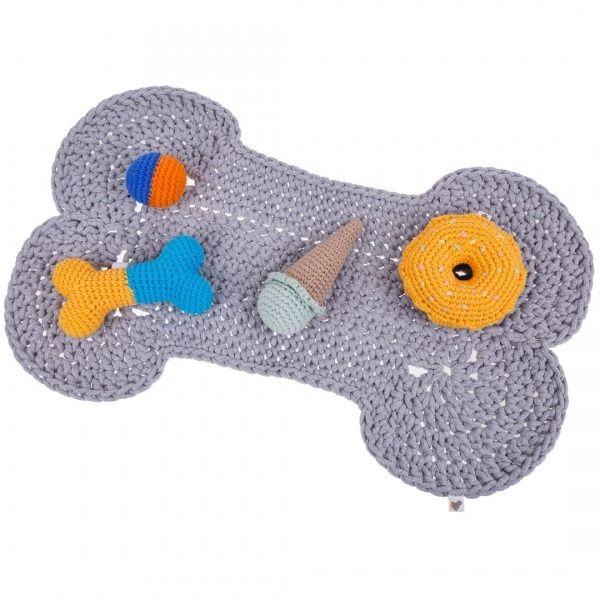 Stylowa mata pod miski :D cottondog.pl Ręcznie robione zabawki i akcesoria dla psów i kotów.