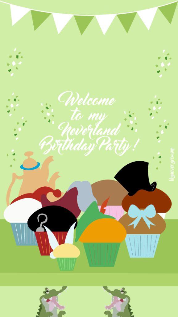 Bon Anniversaire Peter Pan Fond d'écran Cupcake