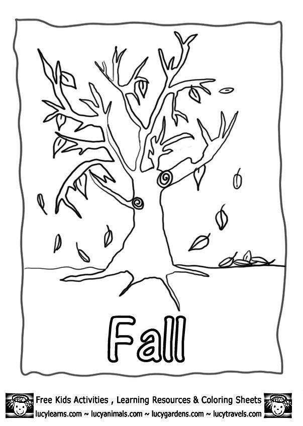 printable fall coloring pages lucy learns 5gif 603