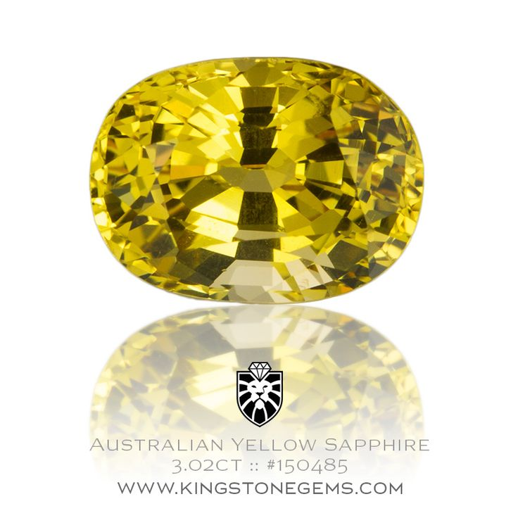 Australian Yellow Sapphire Oval - 3.02ct - 9.1X6.8X5.7mm - SKU# 150485 - We have a large range of beautiful Australian sapphires in our fine collection.