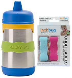 InchBug: personalized, reusable non-adhesive labels for bottles, sippy cups, and daycare necessities