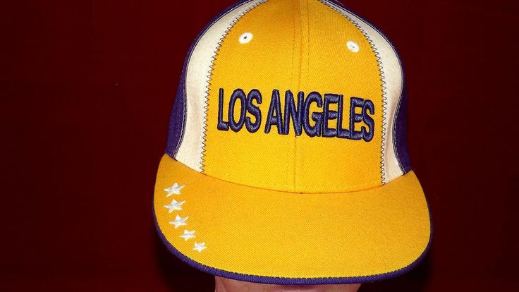 L A Lakers Playoffs Fitted Hat Size 6-3/4 WOOL ball cap BASKETBALL  #Playoffs