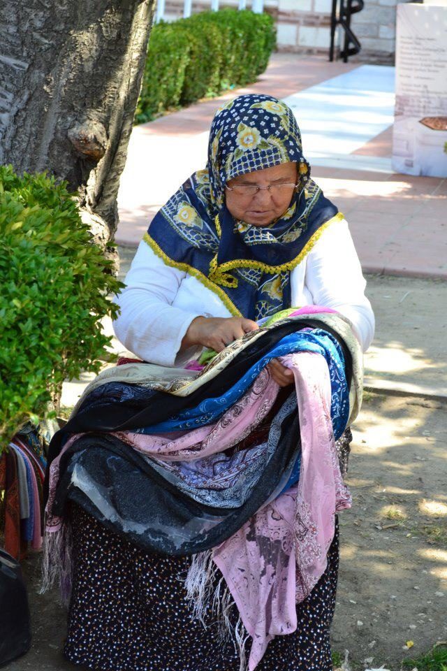 a turkish woman and her wares...