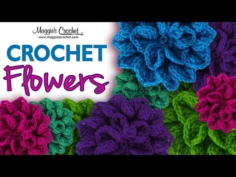 Free Crochet Pattern For Iris Flower : Seven Free Flower Crochet Patterns : Maggies Crochet Blog ...