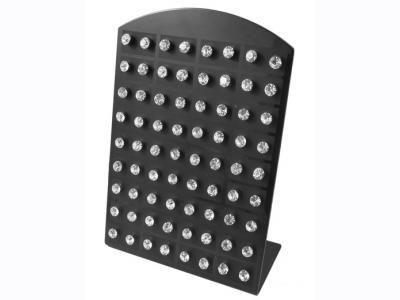 Stand με 36 ζευγάρια σκουλαρίκια με στρας ατσάλινα [JEW-35]