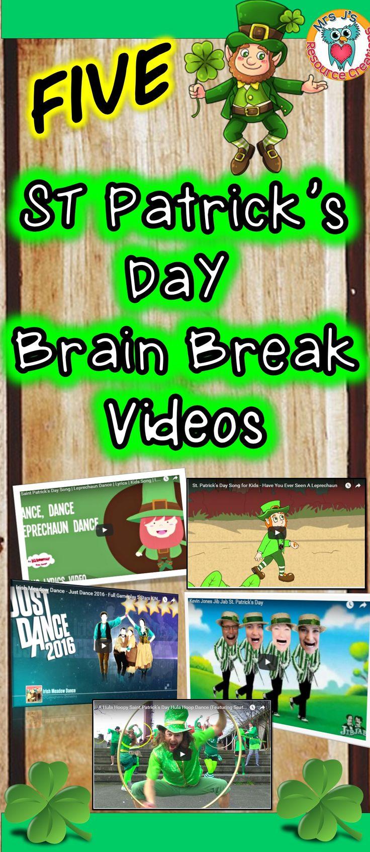 St Patrick's Day Brain Breaks