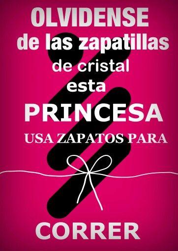 Esta princesa usa zapatos para correr ♡