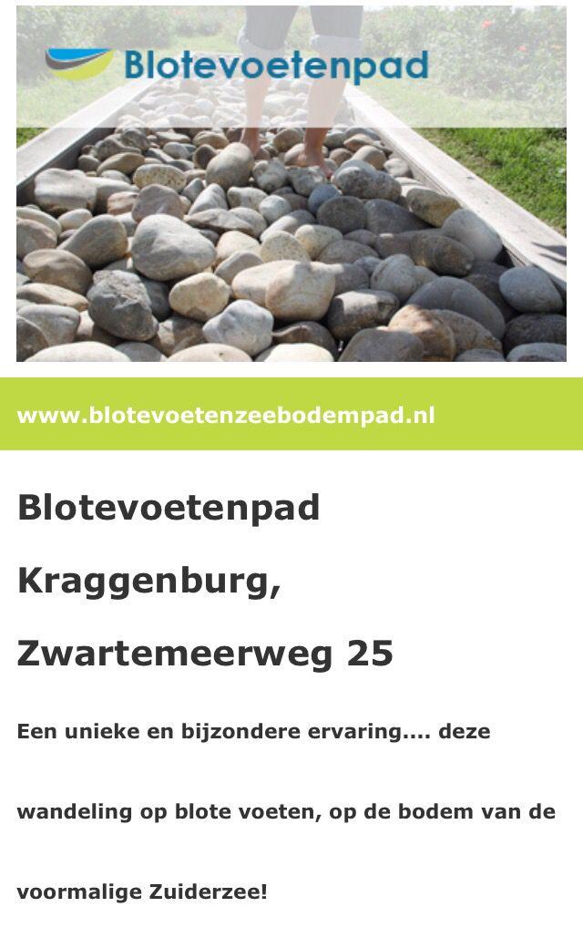 Erg leuk voor jong en oud. Blote voetenpad in Kraggenbrurg (Flevoland)