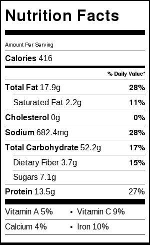 dan dan noodles nutrition facts
