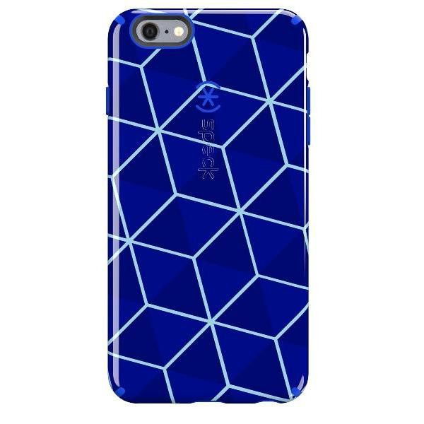Speck iPhone 6/6s Plus CandyShell Inked Case - Stacked Cube/Raincoat Blue