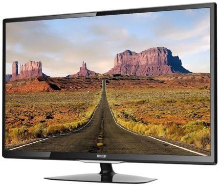 Mystery Mystery MTV-2423LW  — 9320 руб. —  ЖК-телевизор  MTV-2423LW – модель с диагональю экрана 24 дюйма (61 сантиметр). Она выполнена в классическом черном цвете, который будет идеально сочетаться с любым интерьером. Разрешение монитора составляет 1920x1080, при этом время отклика пикселя измеряется в 5 мс. Общее количество каналов насчитывает 200 шт. При этом можно воспользоваться вспомогательным меню телетекста, которое содержит основную информацию. Акустика представлена двумя динамиками…
