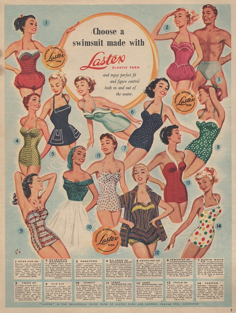 Another of my faves. A UK ad for swimsuit fabric.