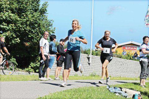 Mange, som kultursjef Janne Lepperød, var med og løp enten tre kilometer eller ei mil.