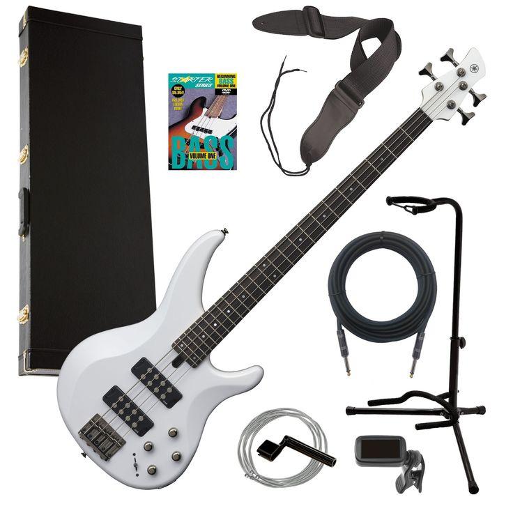 Yamaha TRBX304 4-String Electric Bass Guitar  White COMPLETE BASS BUNDLE