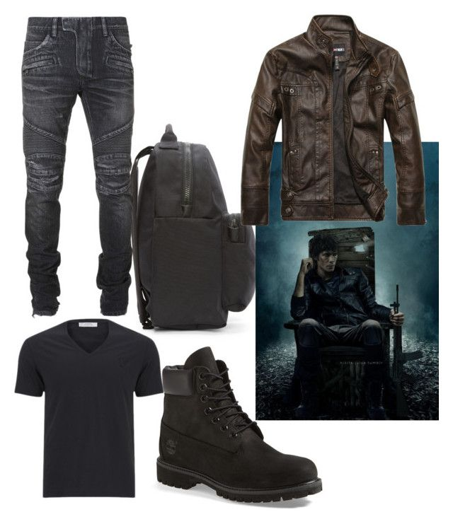 """Bellamy Blake"" by fashion-master-4u on Polyvore featuring adidas Originals, Timberland, Versace and Balmain"