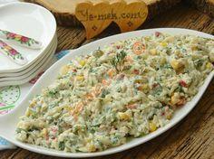 Yoğurtlu Tavuklu Arpa Şehriye Salatası Resimli Tarifi - Yemek Tarifleri