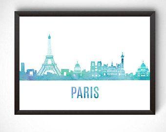 Paris wall art, Paris digital prints, Paris printable, prints, Paris poster, city poster, printable instant download, travel gift, Paris