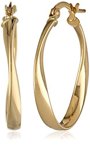 14k Yellow Gold Polished Twisted Oval Hoop Earrings Amazon Collection http://www.amazon.com/dp/B009HN6Y24/ref=cm_sw_r_pi_dp_9mqqvb1KCD7K1