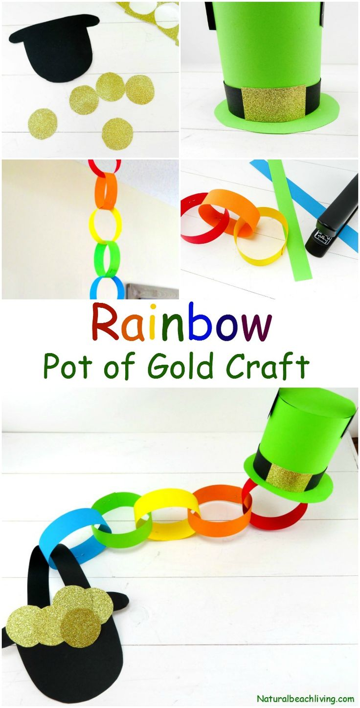 DIY Craft: The Best Rainbow Pot of Gold Craft Idea for St Patrick's Day, DIY St. Patrick's Day Craft, Decoration, Rainbow craft for kids and adults, Perfect!