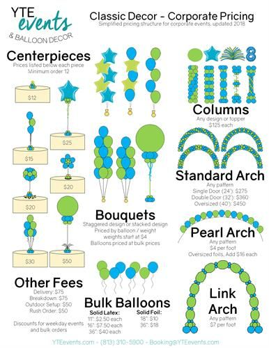 Image result for balloon decor prices | Balloon prices ...