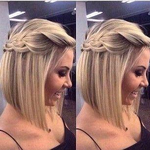 Peinados cabello corto para vestidos largos